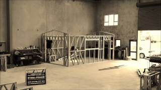 Steel Frame Single Garage