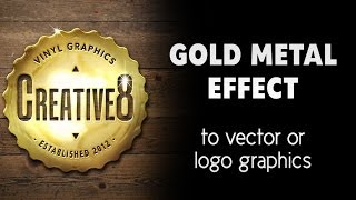 Photoshop Tutorial - Gold metal effect on a vector