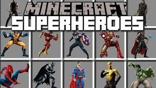 Minecraft SUPERHERO MOD / LOGAN FIGHTS WITH HIS WOLVERINE BLADES!! Minecraft