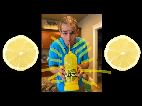 1 LITER of lemon juice in under 17 seconds through a straw - Guinness World Record Attempt