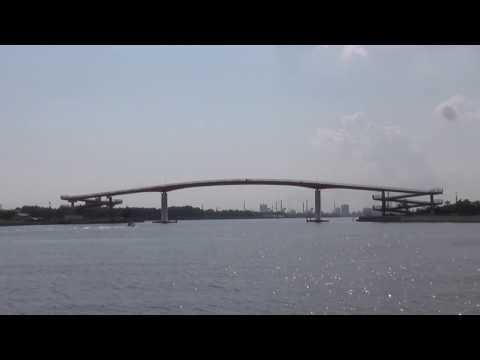 釣り場の風景 千葉県 木更津市内港公園