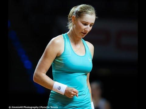 2017 Porsche Tennis Grand Prix First Round | Ekaterina Makarova vs Radwanska | WTA Highlights