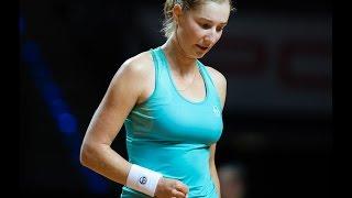 2017 Porsche Tennis Grand Prix First Round | Ekaterina Makarova vs Radwanska | WTA Highlights thumbnail