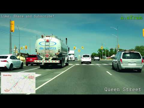 Driving To Costco Woodbridge From Brampton Ontario Canada 4K