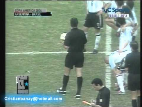 Argentina 2 Brasil 2 Copa America 2004 (Resumen Completo)