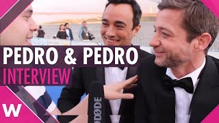 Pedro Granger and Pedro Penim   Eurovision 2018 press conference moderators    blue carpet