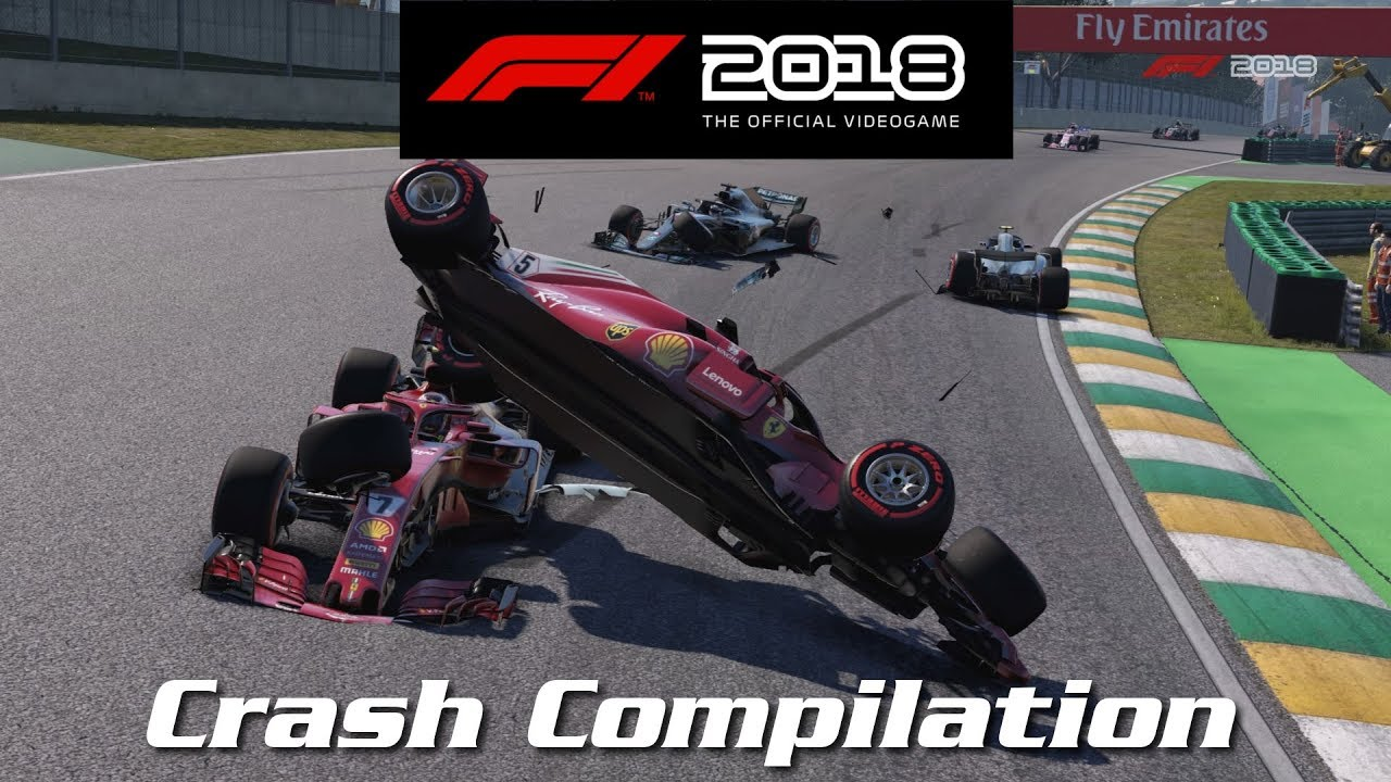 F1 2018 Game - Crash Compilation - YouTube