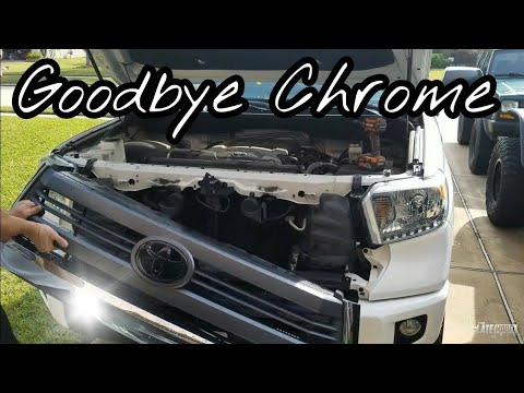 Toyota Tundra Grille Swap Paint and Install - Not the TRD Pro - 2014 15 16 17 - YouTube