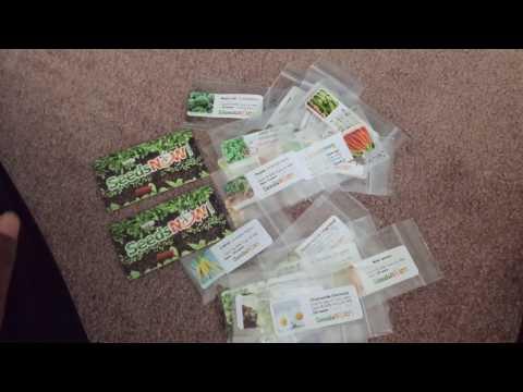 SeedsNow.com Organic & Non-GMO Seeds Unboxing