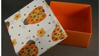 Как сделать подарочную коробку из бумаги(Как сделать подарочную коробку. Посмотрите как можно быстро сделать коробочку для сувенира без клея, испол..., 2014-08-04T10:46:21.000Z)
