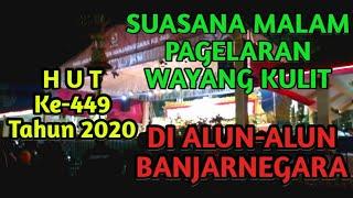 Beginilah Suasana Malam Pagelaran Wayang Kulit di Alun-Alun Kota Banjarnegara | HUT Ke-449