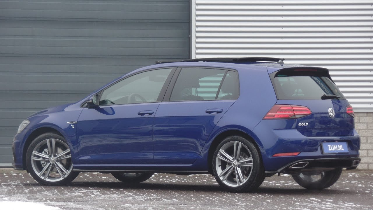 volkswagen new golf r line 2019 lapiz blue 18 inch sebring. Black Bedroom Furniture Sets. Home Design Ideas