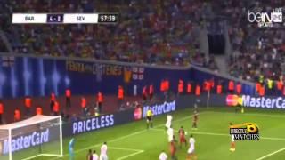 ملخص مباراة برشلونة واشبيلية 5-4 11-8-2015 عصام الشوالي HD