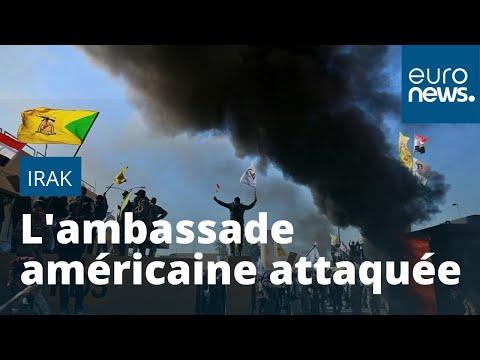 L'ambassade Américaine à Bagdad Attaquée