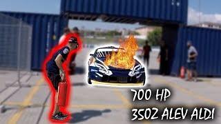 700 HP Nissan 350z YANLARKEN ALEV ALDI !!
