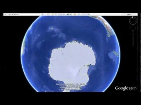 """14 mile long """"THING"""" buried in Antarctica? - how to find using Google Earth"""