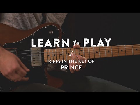 Learn To Play: Riffs In The Key of Prince on Guitar Lesson