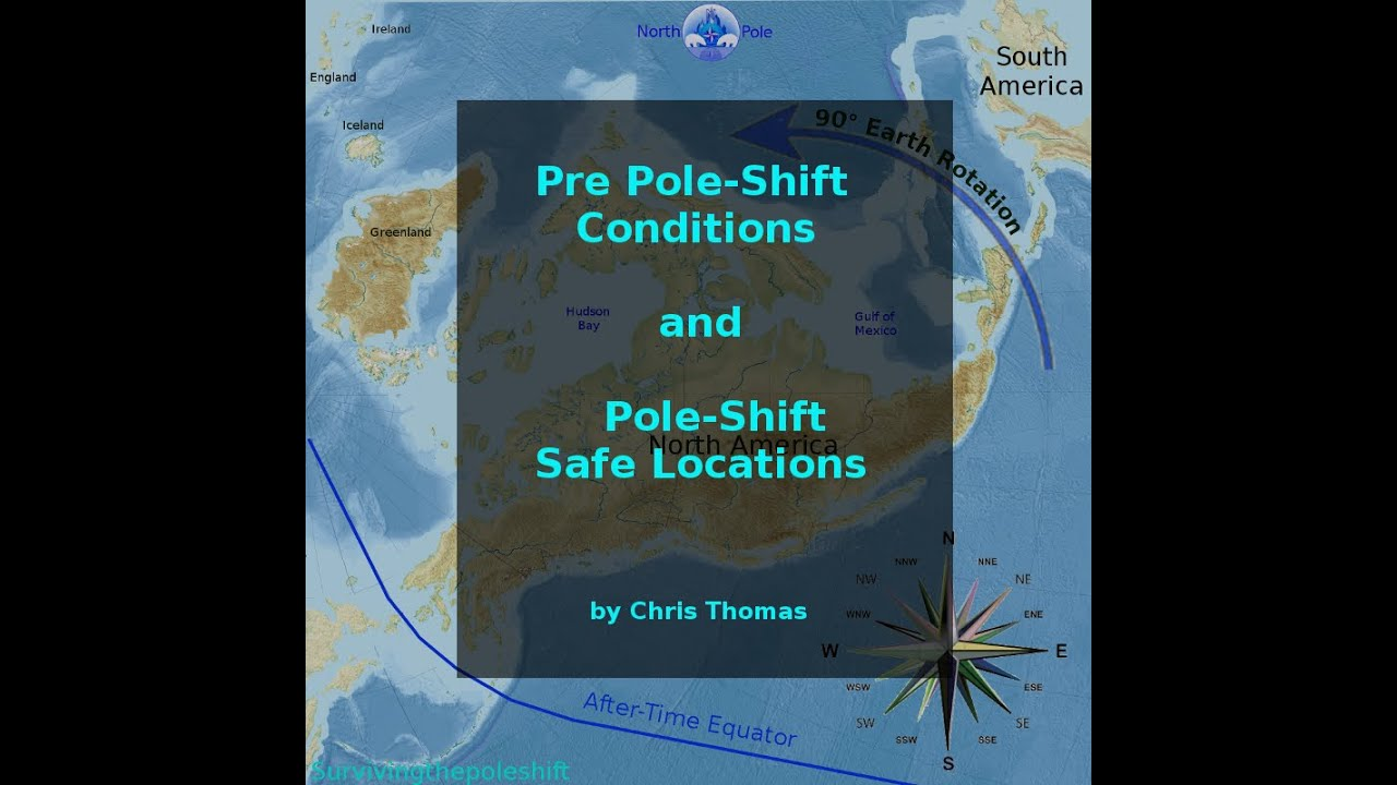 Safe Locations And The PoleShift YouTube - Map of us after pole shift