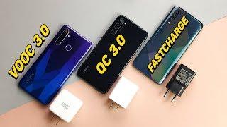Đọ tốc độ sạc pin Realme 5 Pro vs Redmi Note8 vs Galaxy A50s: BẤT NGỜ!!!