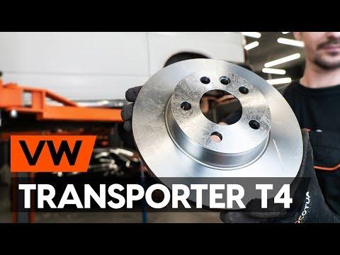 How to change rear brake discs / rear brake rotors onVW TRANSPORTER 4 (T4)[TUTORIAL AUTODOC]