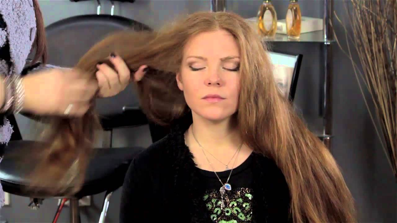 how to get rid of frizzy & poofy hair after a shower : hair magic