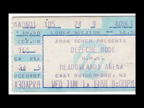 Depeche Mode: 1988-06-01 ~ Meadowlands Arena, E. Rutherford, NJ (Audio only)