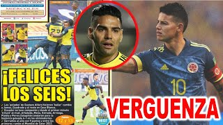 FALCAO Y JAMES RODRIGUEZ DAN LA CARA? LA PRENSA MUNDIAL SE RIE DE ECUADOR VS COLOMBIA 6-1 GOLEADA