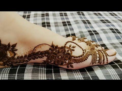 Dubai Style Henna Design For One Side Of Leg 2018 Heena Vahid