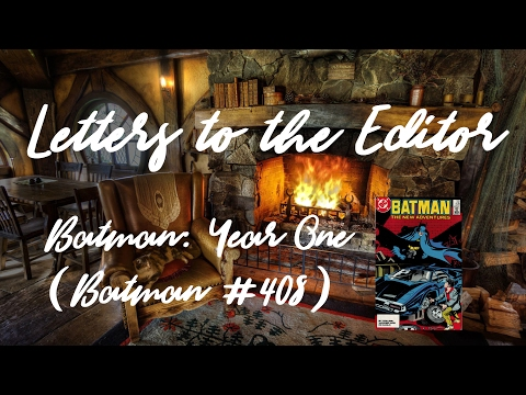 Re: Batman Year One (Letters to the editor)