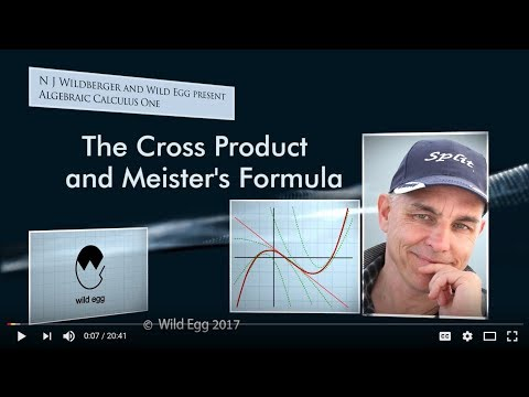 AlgCalcOne: The Cross Product and Meister's Formula