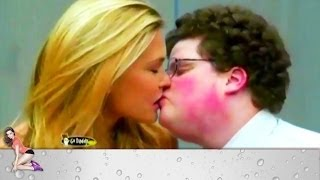 Bar Refaeli kisses fat and ugly geek!