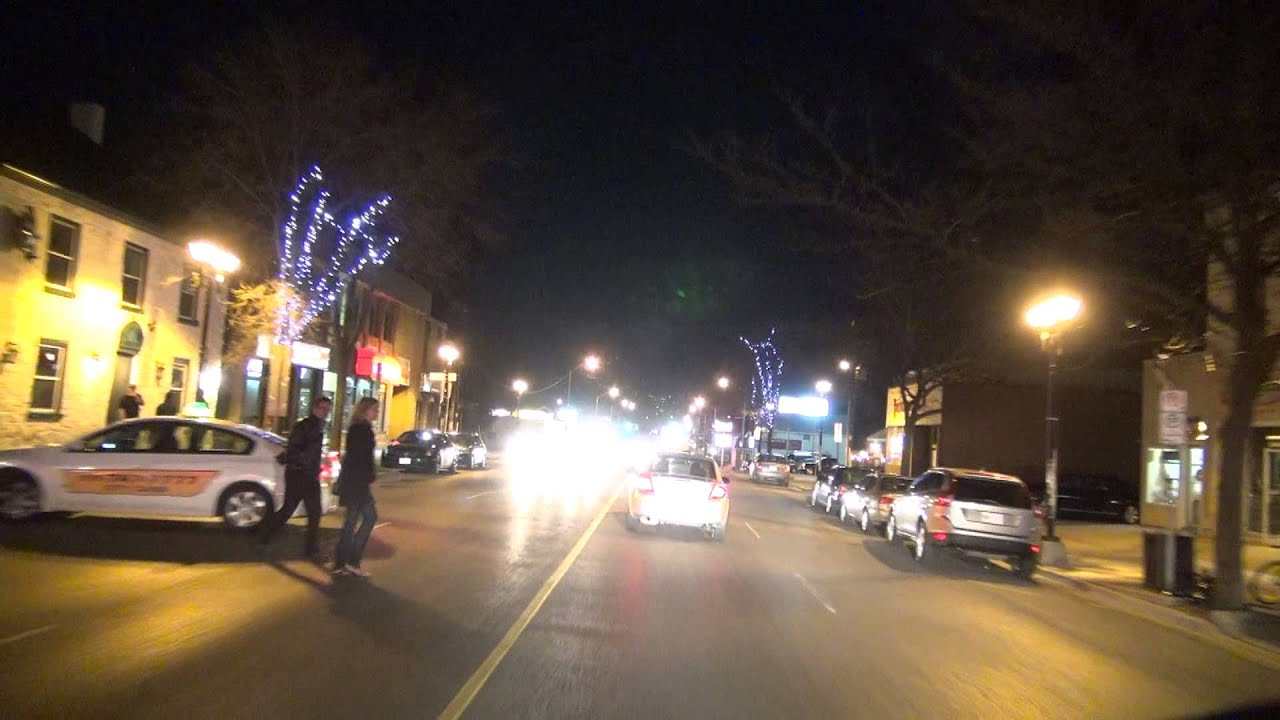 Urban Lights Kitchener Evening Drive Through Kitchener Waterloo Ontario Youtube