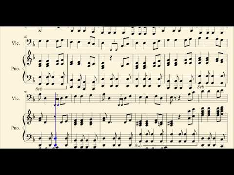 Easy Pirates of the Caribbean Medley for Cello and Piano