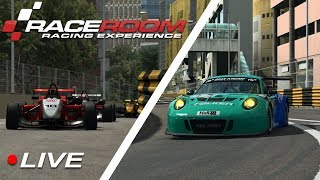 RaceRoom Macau Special Event Competition - F3 and GT3 Races | Live