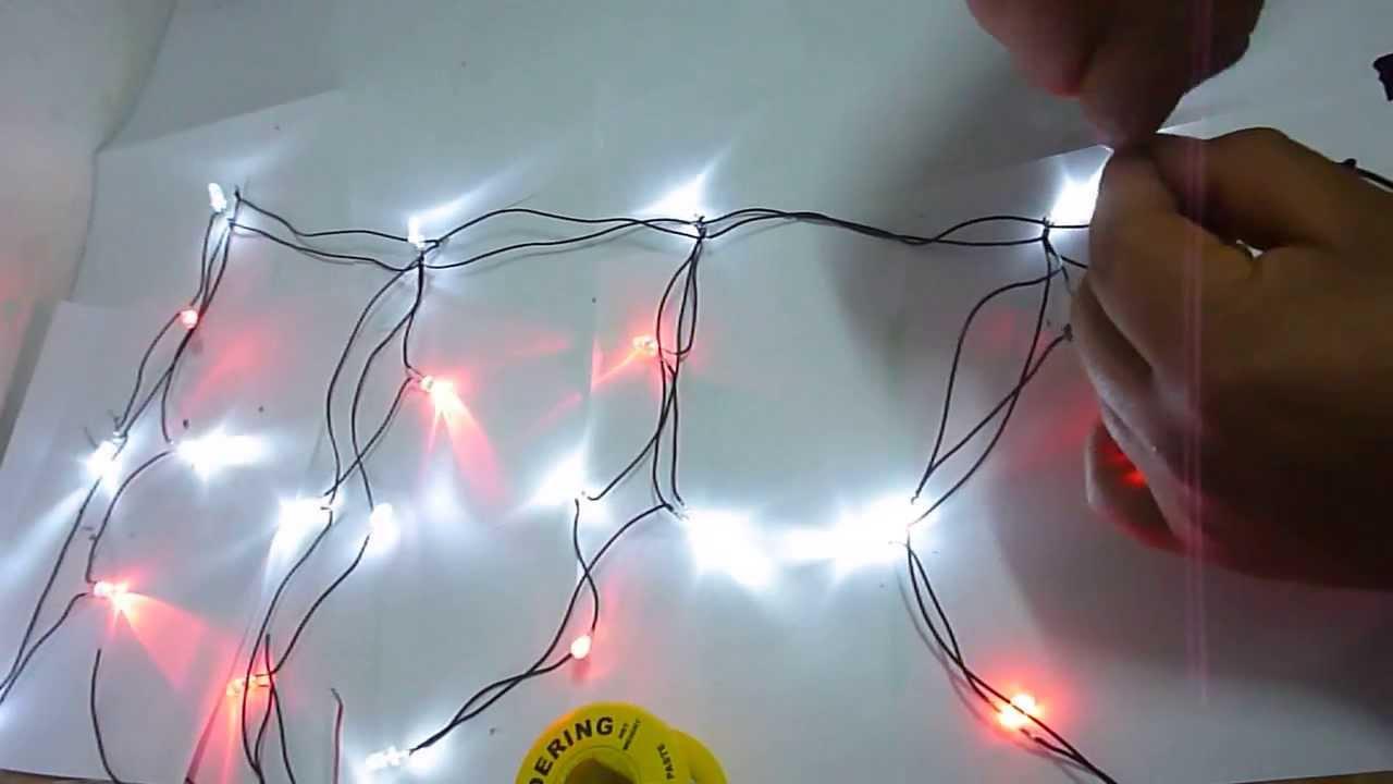 Como hacer luces navide as a led con cargador de celular for Focos led a pilas