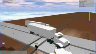 Roblox Train VS Truck