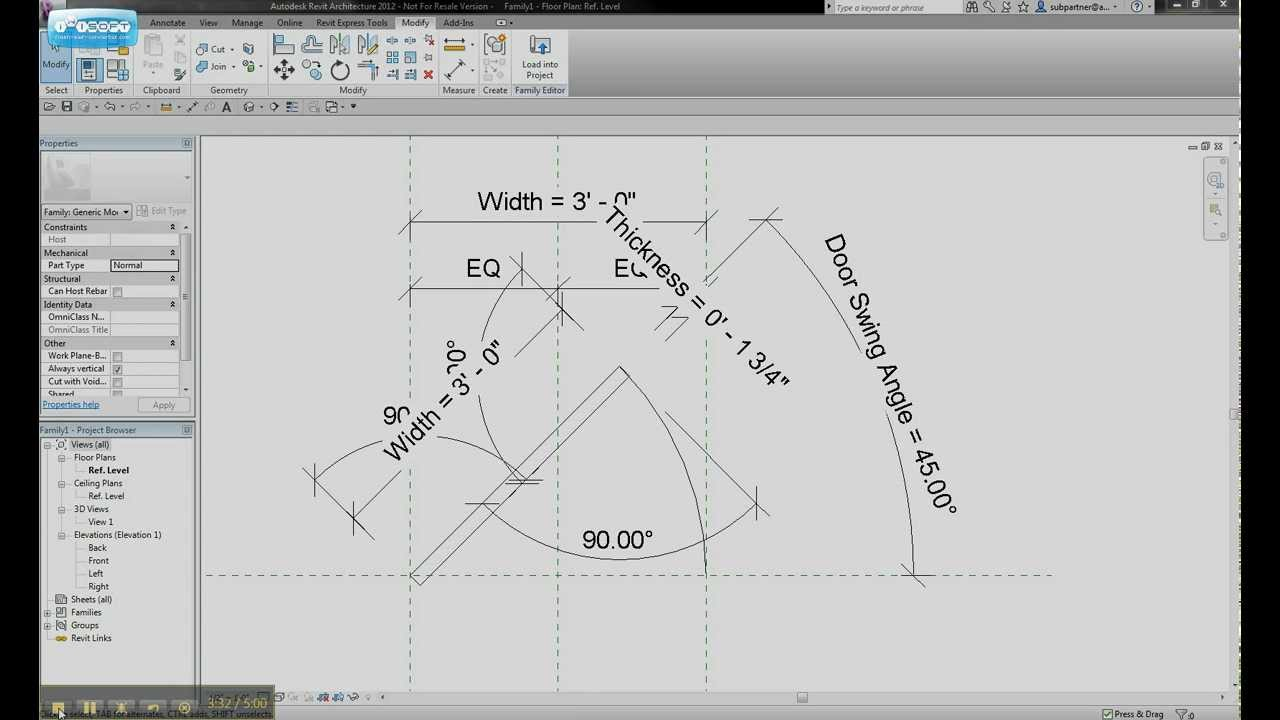 Revit Tips And Tricks Door Swing Change Angles Youtube