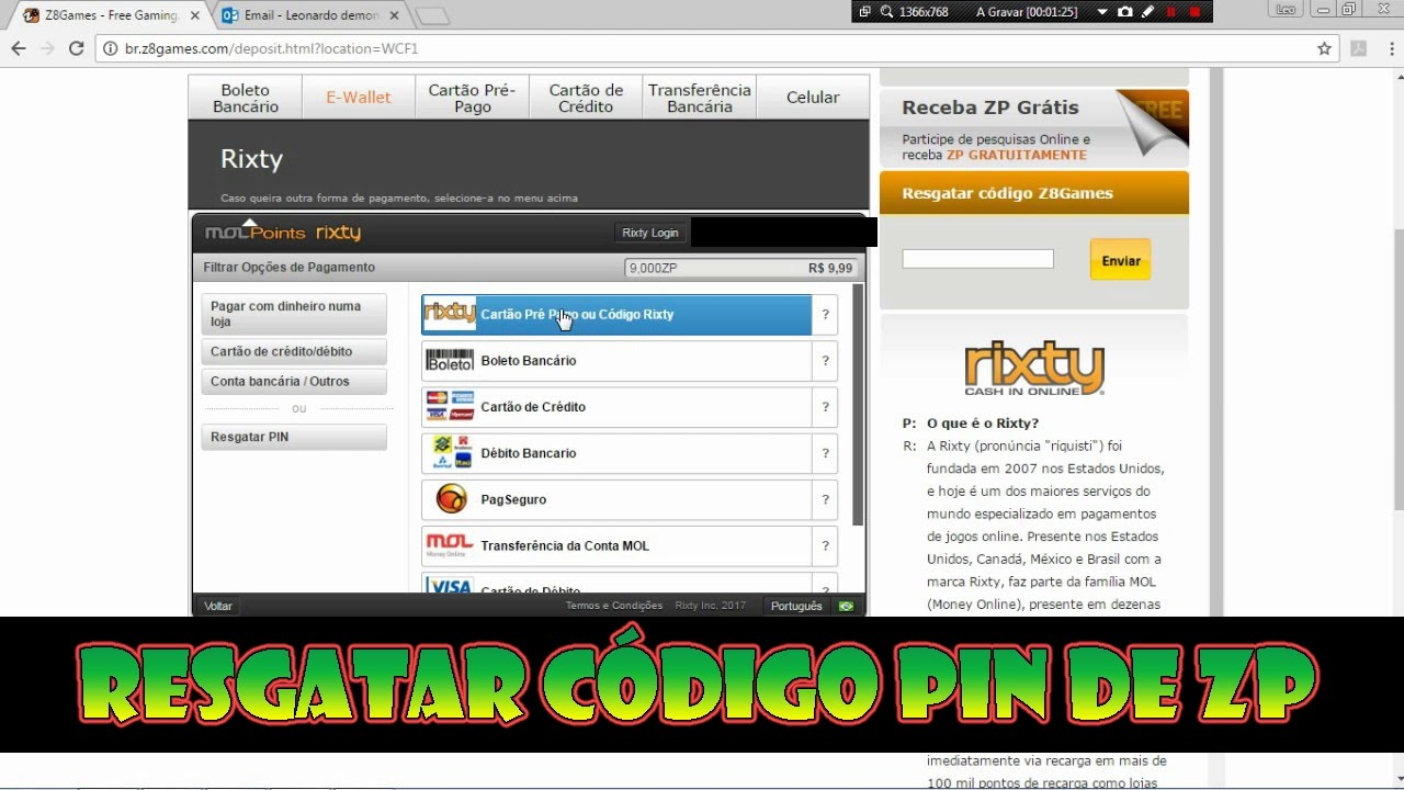 COMO RESGATAR CÓDIGO PIN DE ZP NO CROSSFIRE - YouTube