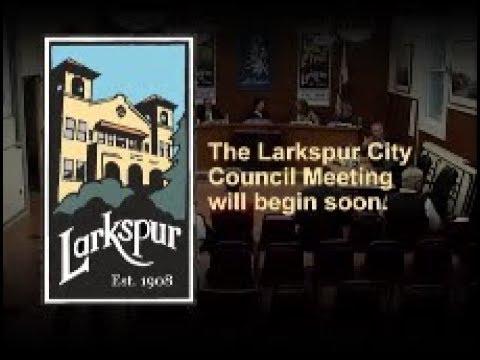 Larkspur City Council Meeting October 2, 2019