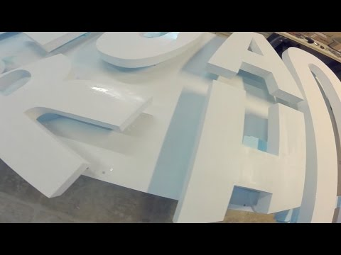 DIY  3D Brand Logo/Sign with Styrofoam