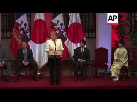 Prince Akishino and Princess Kiko of Japan visit Chile
