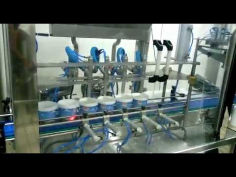 Otomatik kova dolum makinesi. Automatic bucket filling machines.