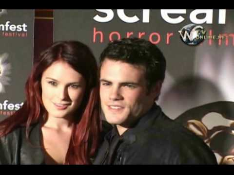 Rumer Willis and  her boyfriend at  the Movie premiere of Forget Me Not