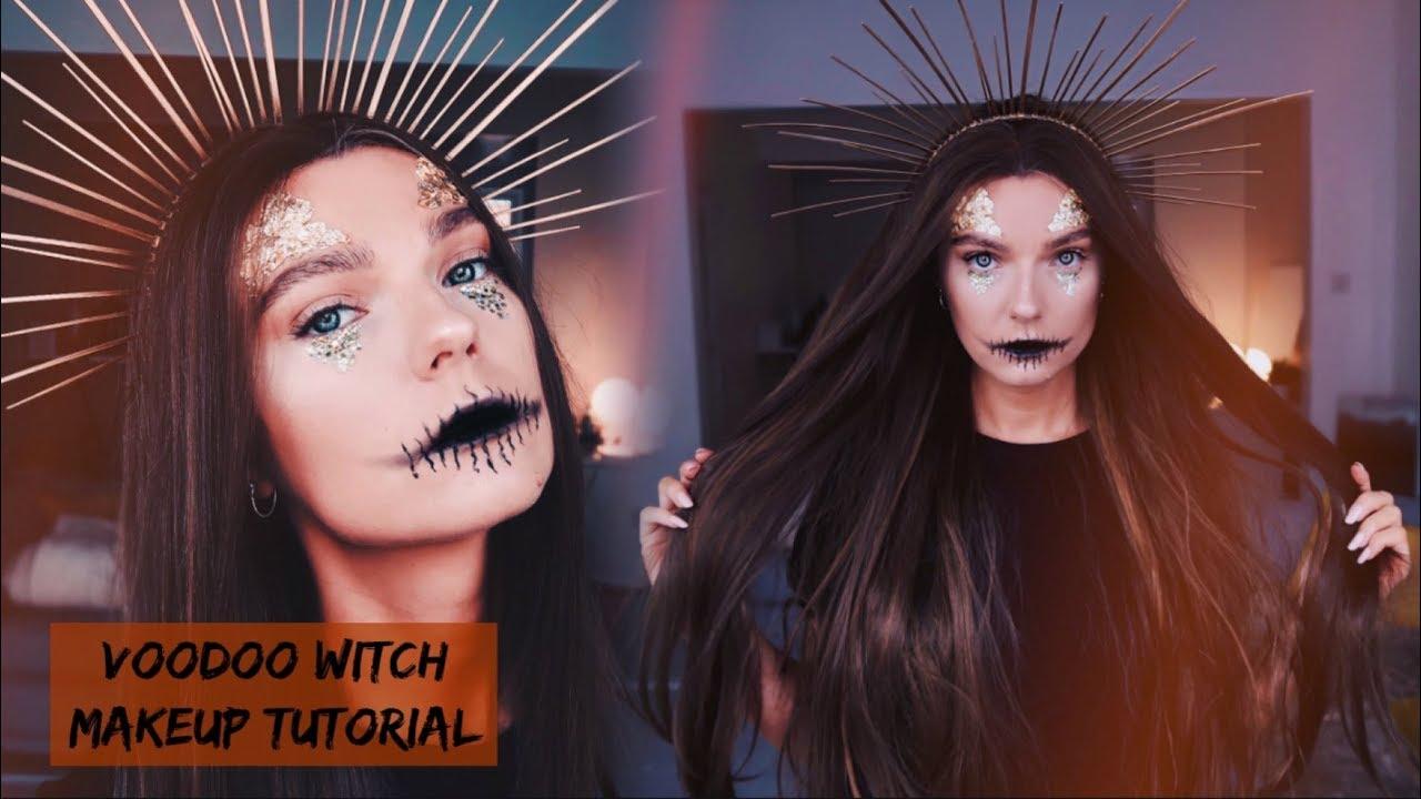 Easy Voodoo Witch Halloween Makeup Tutorial Lovefings Youtube