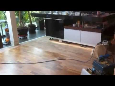Engineered Walnut Wood Floor Sanding By Woodfloor Renovations Youtube
