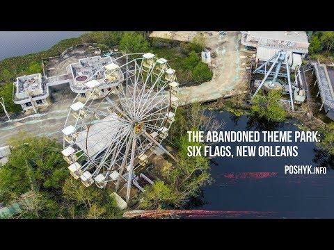 Exploring an Abandoned Theme Park: Six Flags, New Orleans - Заброшенный парк аттракционов