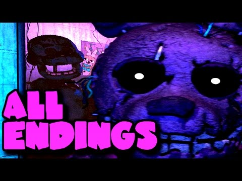 Five Nights at Freddy's 3 Good Ending, Bad Ending & Secret Ending