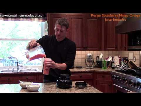 Strawberry Mango Orange Juice Smoothie Recipe