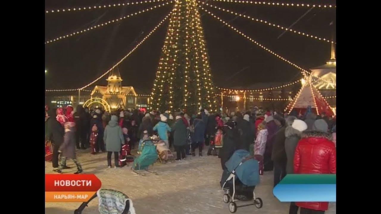 Открытие главной новогодней елки Ненецкого округа организована развлекательная программа