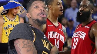 HARDEN GETS GOATYYY!! DURANTS NOT CLUTCH! WARRIORS vs ROCKETS HIGHLIGHTS REACTION!